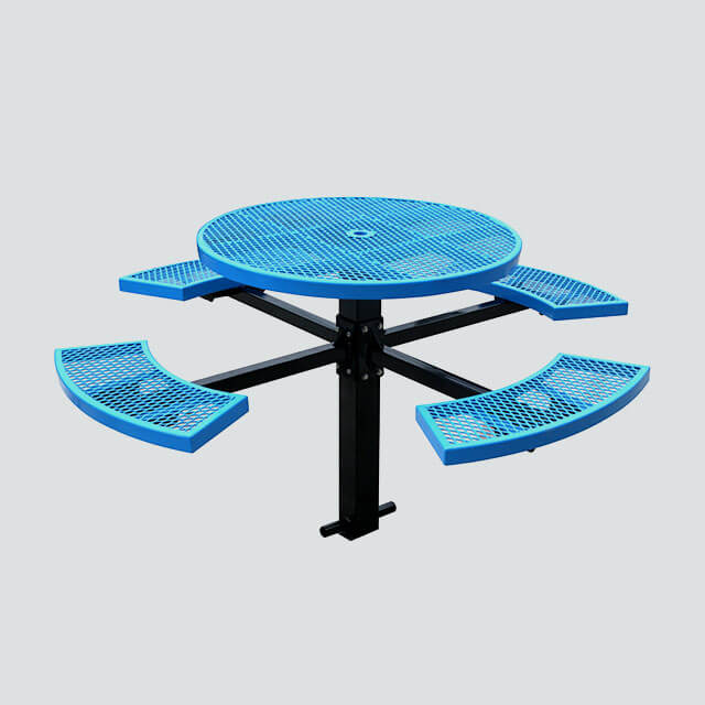 Phenomenal Tb18 Round Picnic Table With Four Benches Inzonedesignstudio Interior Chair Design Inzonedesignstudiocom