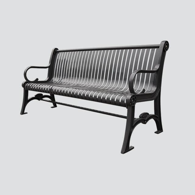 Fs28 Metal Cast Iron Garden Bench