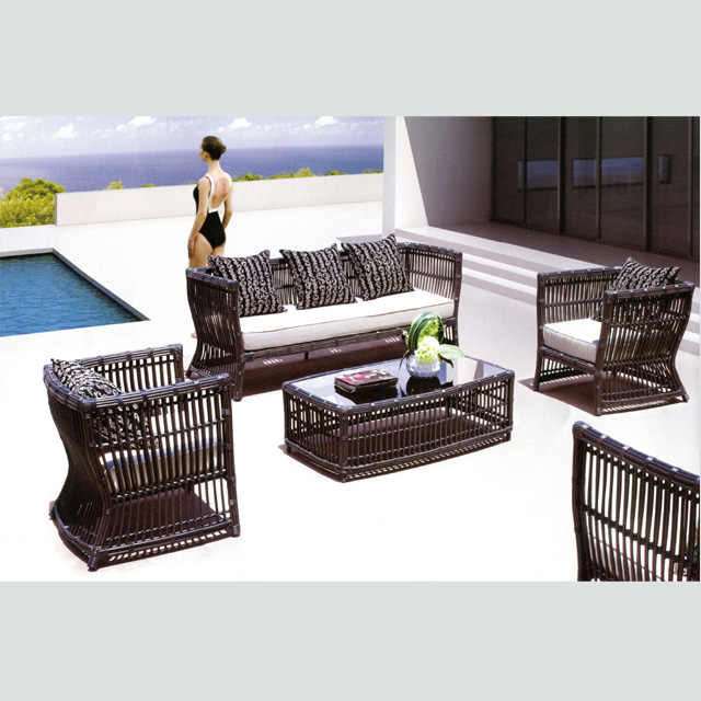 Fine Rt 11 Aluminium Rattan Wicker Sofa Set Garden Outdoor Furniture Theyellowbook Wood Chair Design Ideas Theyellowbookinfo