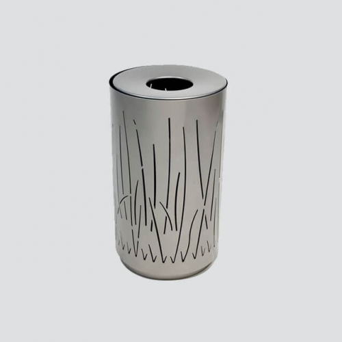 BS37 Metal Steel Trash Can for Garden
