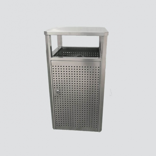 BS26 Outdoor Metal Stainless Steel Trash Can