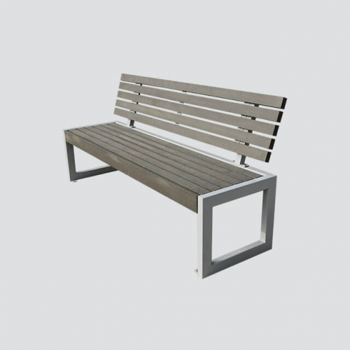 FW28 street resting long wooden bench
