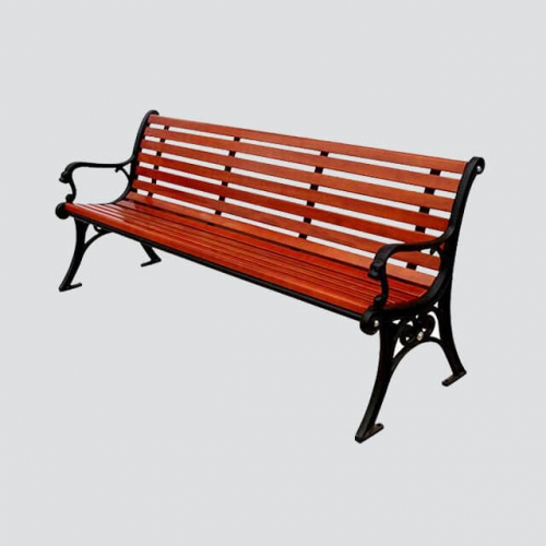 FW22 cast iron wood bench garden furniture
