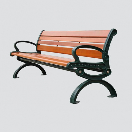 FW24 outdoor bench with cast iron leg