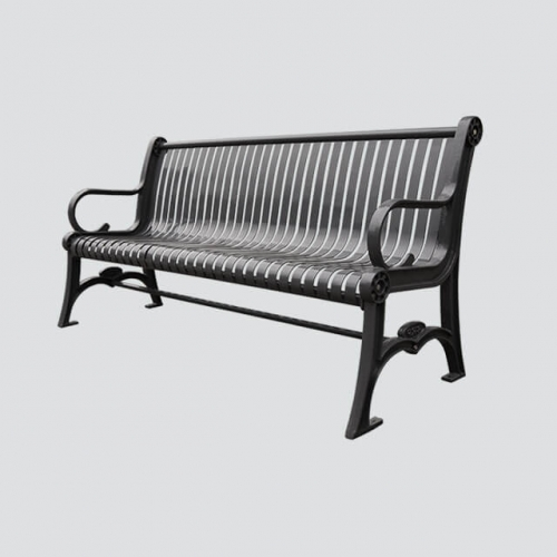FS28 metal cast iron garden bench