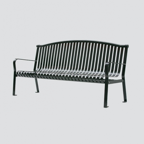 FS20 flat steel iron garden leisure bench
