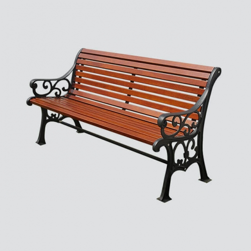 FW21 patio bench with cast iron leg