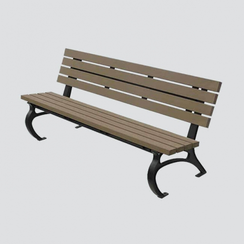 FW15 outdoor cast iron wood bench