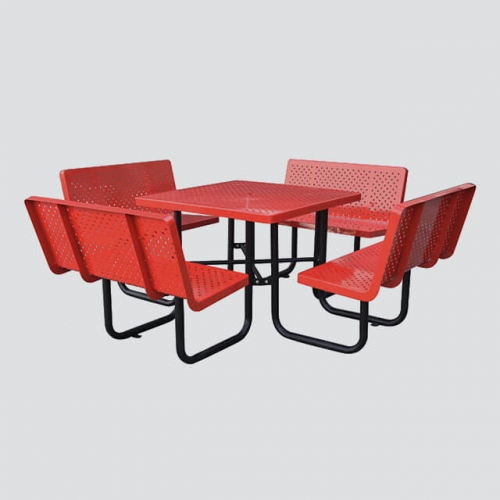 TB20 Steel assemble table and chairs with backrests