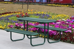 TB11 Outdoor thermoplastic table with two benches
