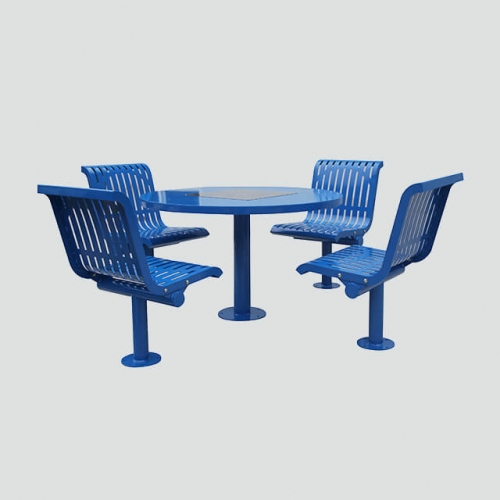 TB17 Outdoor chess steel table and chair