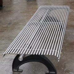 FS14 stainless steel and cast iron park bench