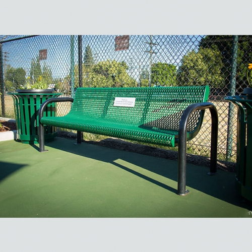 FS32 Arlau metal perforated garden bench