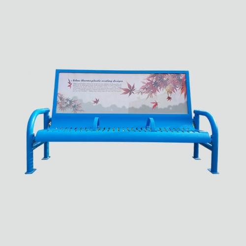 FS30 metal advertising bench
