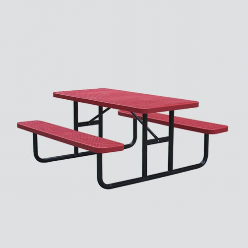 TB14 Public metal steel picnic table
