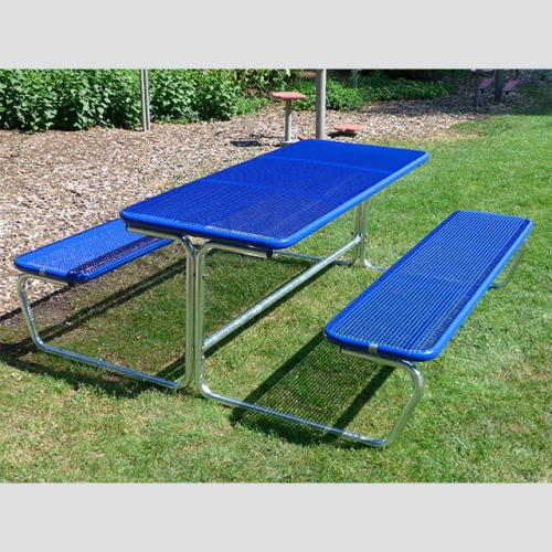 TB22 Outdoor thermoplastic table with two benches