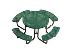TB16 Round punched-plate picnic table and chairs