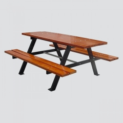 TB26 wood table and bench set