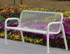 FS34 outdoor thermoplastic metal leisure bench