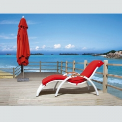RC20 Hotel Outdoor Aluminium Beach Rattan Sun Lounger