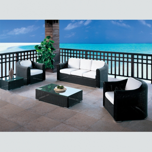 RT-21 Outdoor Patio Sofa Couch Furniture PE Rattan Wicker Sofa Set