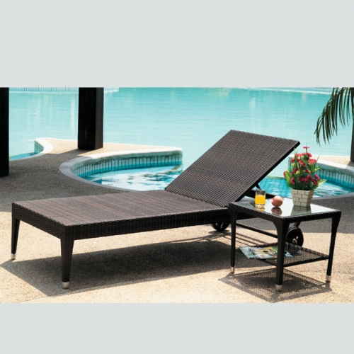 RC18 Outdoor Leisure Swinging Pool Recline Chair Rattan Sun Lounger