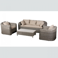 RT-27 Rattan Rope Wicker Furniture Sofa Sets Outdoor furniture garden sets