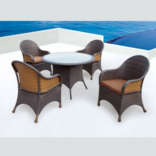 RTC-16 rattan material customized table and chair