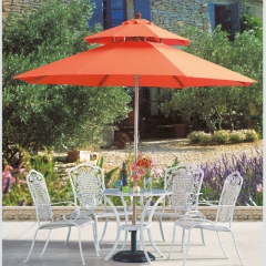 High quality outdoor garden beach patio umbrella sun umbrella cover table and chair garden grass flower protection windproof