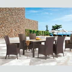 RTC-18 beach leisure rattan table and chair
