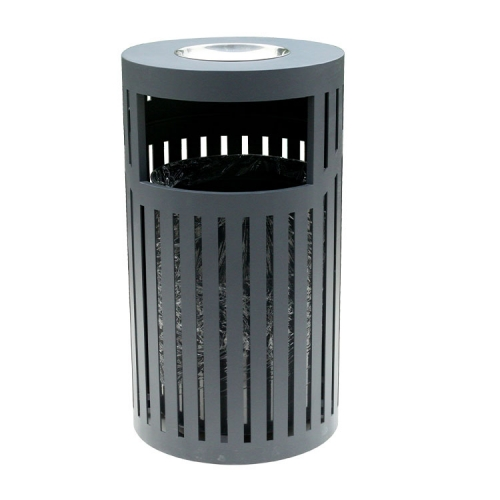 BS03 Outdoor Park Steel Metal Trash Bins