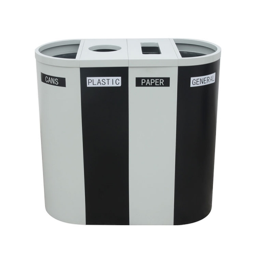 BS01 New sorting steel bins metal trash bin