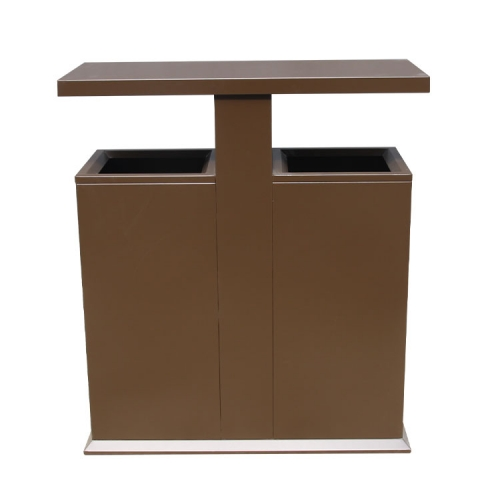 BS83 Classic Steel Waste Container Outdoor Waste Can