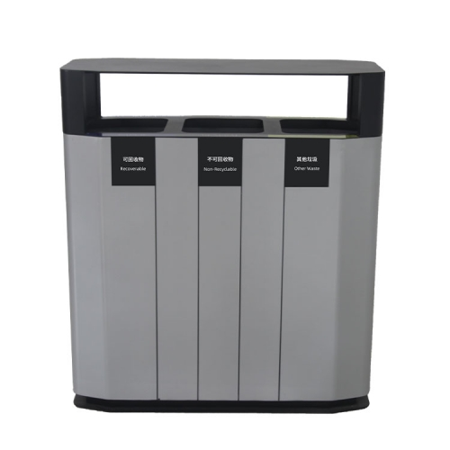 BS02 Aluminum alloy dustbin trash bin