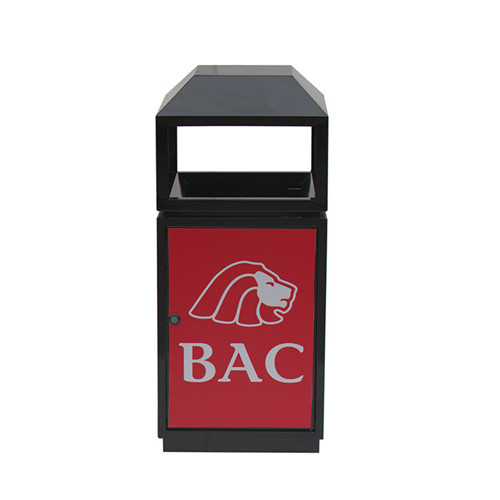 BS85 Garden Custom Made Metal advertising Dust bin