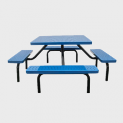 TB41 Outdoor thermoplastic table with two benches
