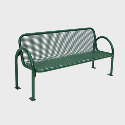 FS39 outdoor thermoplastic metal leisure bench