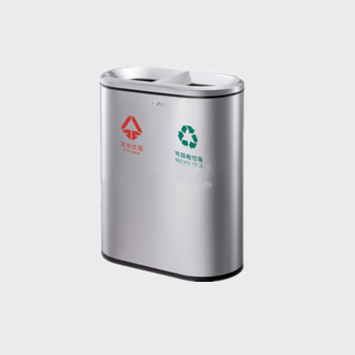 BS110 Stainless Steel Sorting Trash Bin For Public Places